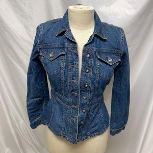 DKNY Jeans Fitted Jean Jacket Size XS